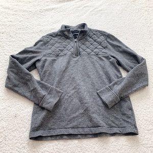 Banana republic quilted quarter zip pullover jack